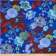 Kaffe Fassett Summer Bouquet Blue - Per Quarter Metre